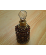 Hungarian eau de cologne in Vintage Inspired round Brass Filigree Crysta... - $129.99