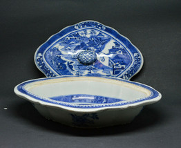 Antique Chinese Porcelain Blue and White Taurine -  10 x 8 x 2.5 inches -  - $222.75