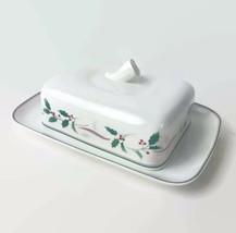 Mikasa Christopher Stuart Holiday Splendor Christmas China Butter Dish R... - $37.36