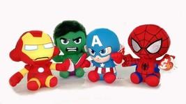 "Avengers Baby Beanie 6"" Doll Spiderman/IronMan/CaptainAmerica/Groot/Blac... - $9.03+"