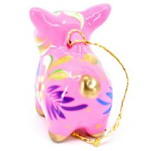 Handcrafted Painted CeramicPink Pig Confetti Ornament Made in Peru image 4