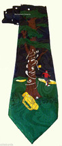 FRATELLO Men SILK Necktie Tie Angry Golfer Tree Club - $10.00
