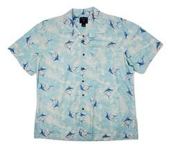Saddlebred Men's Short Sleeve Button Down XL Blu Marlin Shirt - $24.09
