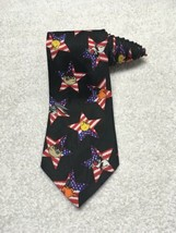 Looney Tunes Mania patriotic star American flag necktie Tie Novelty Men's - $11.87