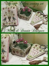 Spring Colors Sewing Sewing Set cross stitch chart Mani di Donna   - $19.80