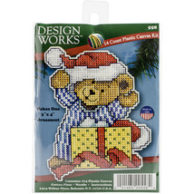"Design Works Plastic Canvas Kit 4""X3"" Bear  - $7.33"