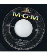 Eric Burden & Animals See See Rider 45 rpm She'll Return It - $4.74