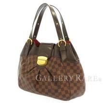 LOUIS VUITTON Sistina PM Damier Canvas Ebene N41542 Shoulder Bag Authentic