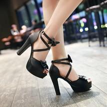 99S018 cross strap sandals, size 4-8.5, black - $48.80