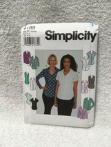 Simplicity Misses Miss Petite Shirt Knit Shirt Sewing Pattern 8189 - $7.91