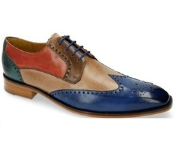 Handmade Multi Color Wing Tip Burnished Brogues Toe Stylish Vintage Oxford Shoes - $139.90+