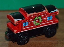 Thomas and Friends Wooden Railway SODOR LINE CABOOSE (Winter, Christmas) Train - $14.95