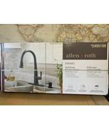 Allen + Roth Matte Black Reagan Deck-Mount Pull-Down Sprayer Kitchen Fau... - $74.50
