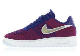 Nike AF1 Ultra Flyknit 826577-601 Low Gym Red/Deep Royal Blue-White 'lot' - $115.00