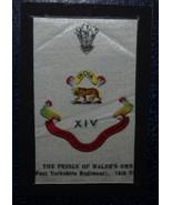 VINTAGE CIGARETTE CARDS SILK PRINCE OF WALES WEST YORKSHIRE REGIMENT 14t... - $1.71