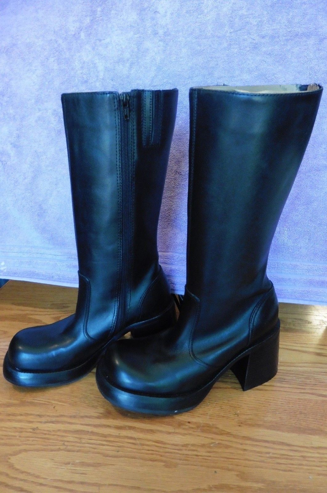 9f59ba13710 NEW Steve Madden Black Leather Womens Boots and 50 similar items