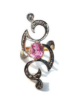 Victorian 0.52ct Rose Cut Diamond Ruby Women's Engagement Ring  - $363.72