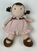 CARTER'S Just One You BRUNETTE Brown Hair Eyes GIRL Doll Pink Dot Dress ... - $14.36