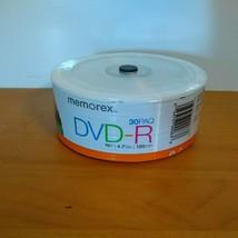 Memorex DVD-R 30Pk 16x 4.7GB 120Min Brand New Factory Sealed - $9.89