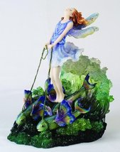 Josephine Wall Surfer's Dream Oceanic Fairy Statue Fine Masterpiece Fish Chariot - $29.98