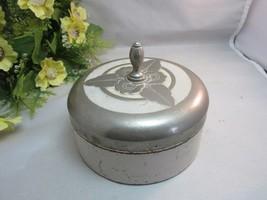Vtg Chase art deco vanity powder box w/glass insert - $29.99