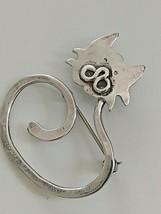 Vintage Modernist Sterling Silver Cat Pin - $12.00