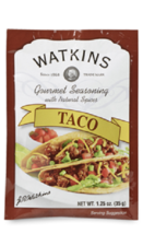 Watkins Gourmet Seasoning with Natural Spice Mix, Taco, 1.25 Ounce Pack ... - $17.10