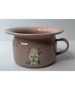 Vintage Pink Child's Chamber Pot With Dog Art Made In USA - $19.79