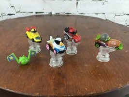Angry Birds Go Telepods Kart Racers Lot 4 Cars Trophy Stands QR Codes #2 - $21.78