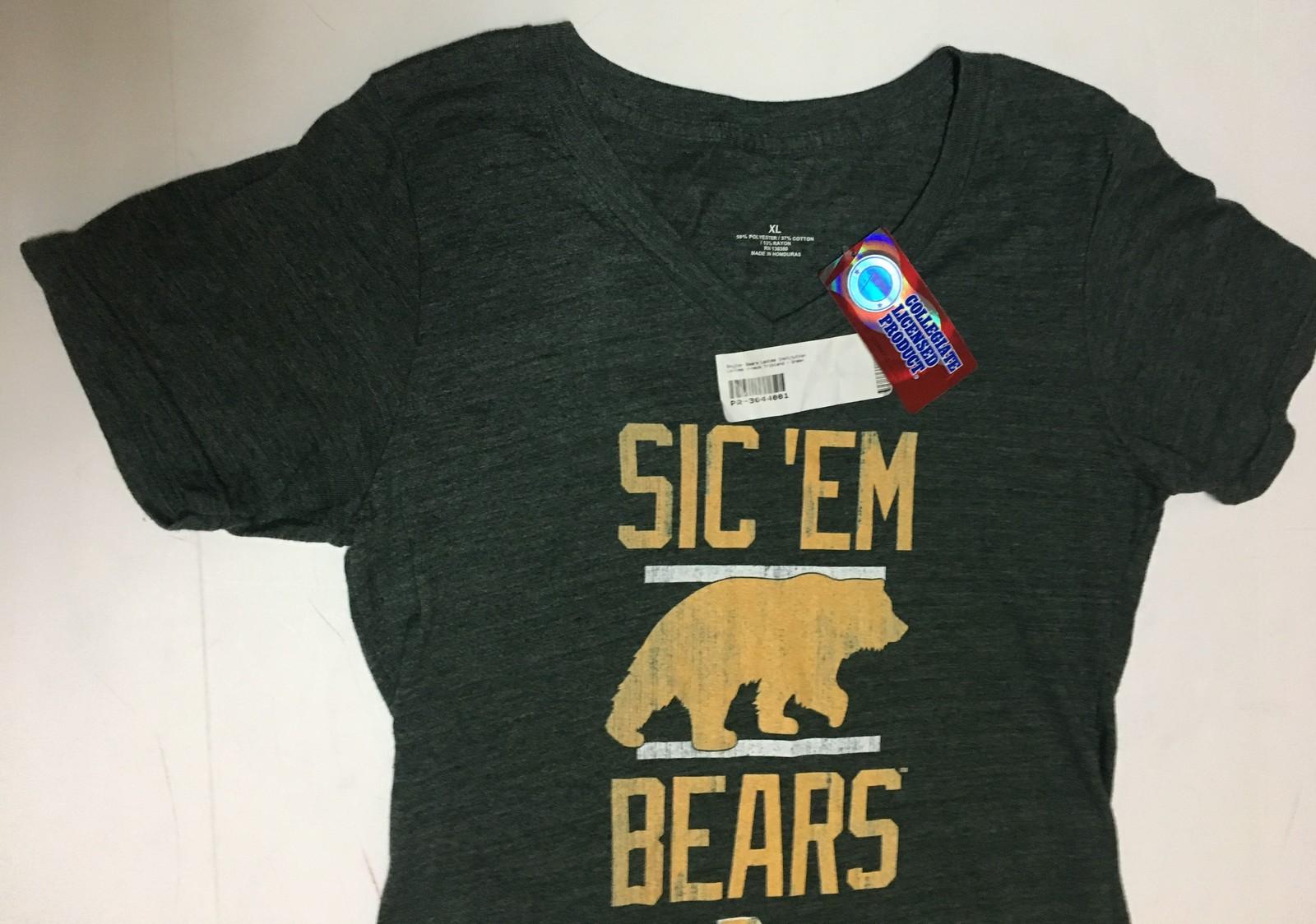 Baylor Bears Collegiate Women's T-Shirt V-Neck Top Sz XL Green