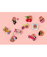 LINE Friends CHOCO Pin Button 10 Types Badge Clothes Jacket Bag Pouch Wa... - $14.48