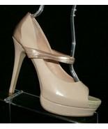 Jessica Simpson 'Elys' nude man made mary jane peep toe platform heels 9B - $33.30