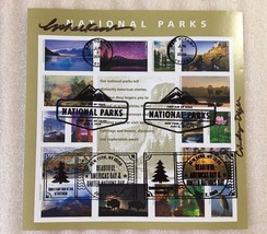 2016 National Park Stamp Full Pane of 16 Signed at World Stamp Show Canc... - $24.30
