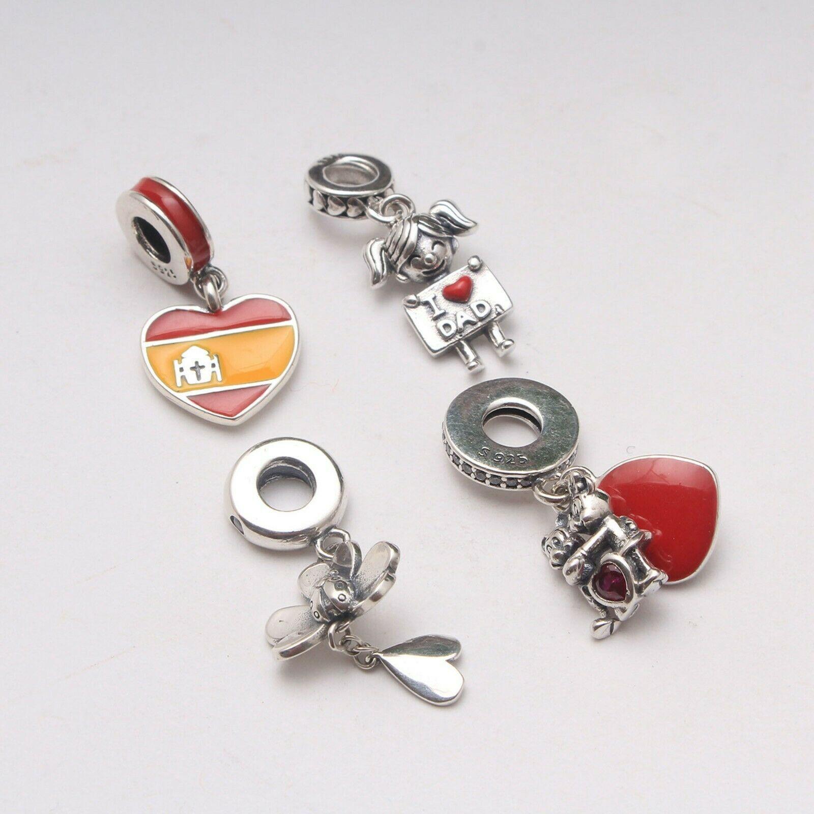 925 Sterling Silver FRYING PAN Dangle Threaded European Charm Bead
