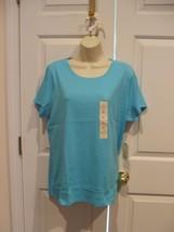Nwt St. Johns Bay Aqua 100% Cotton Top Size Xlarge - $11.13