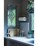 Diamond Beveled Stained Glass Window Center Cluster - $189.00