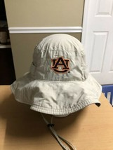 Auburn University Tigers Hat Wide Brim by COLUMBIA Khaki Embroidered Logo - $27.83
