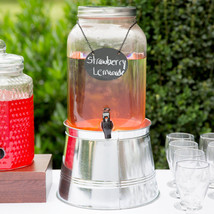 Core 2 Gallon Mason Jar Glass Beverage Dispenser with Infuser, Sign and ... - $45.51