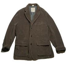 J. Crew Vintage Cord Coat Size XL Brown Corduroy Jacket Worn In Look Cot... - $36.02