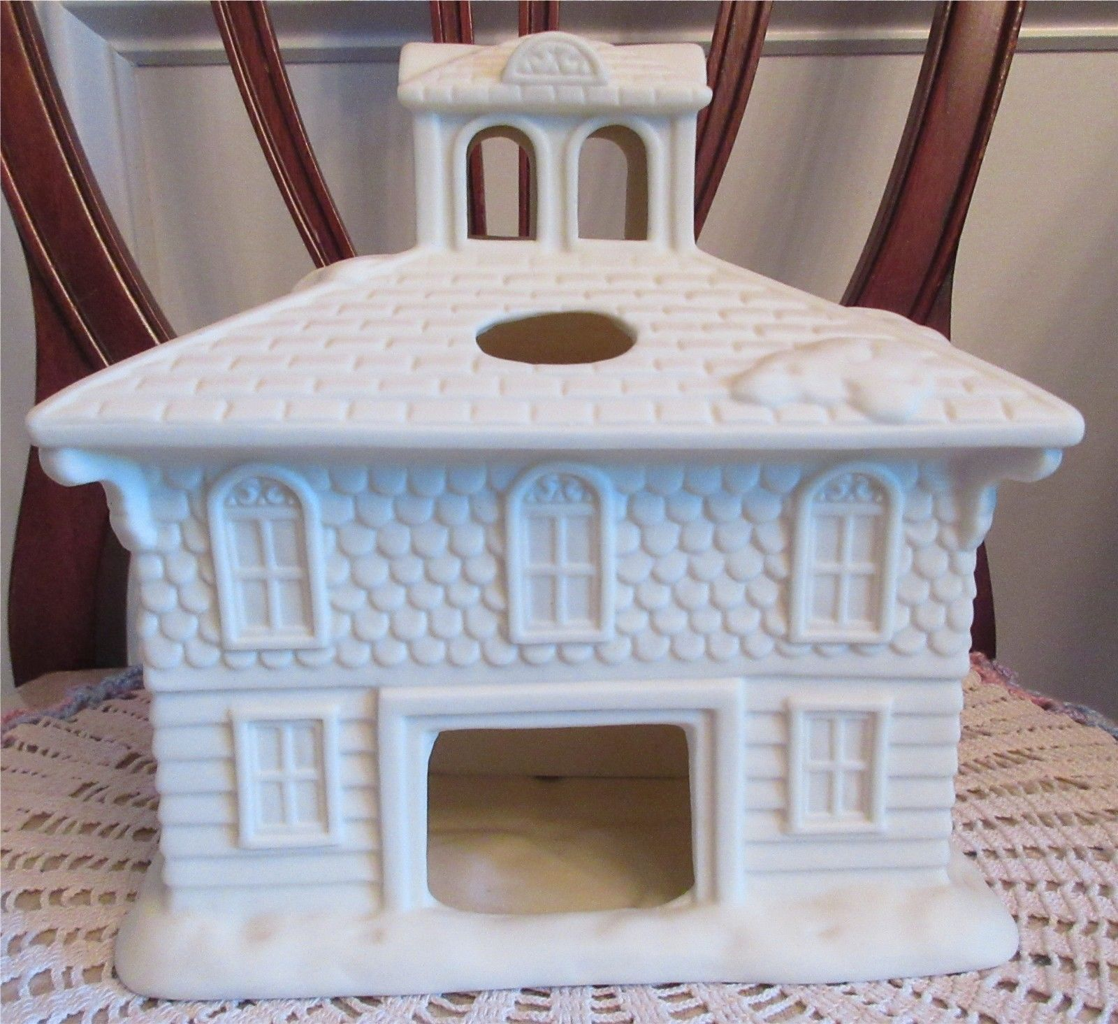 PartyLite VICTORIAN MANOR House Christmas Holiday Tealight Candle Holder No Box