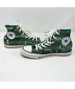 Converse Boston All Over Print Green Hi Top Sneakers Sz 6 Mens 8 Womens ... - $49.49