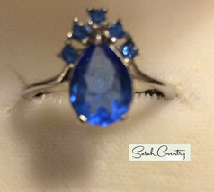 Vintage Sarah Coventry  Jewelry - #0899 Moon River Ring  Size 8 - $24.45