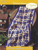 Blueberry Squares Victorian Elegance Afghan Pattern TNS Needlecraft Shop... - $4.74