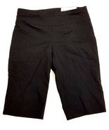 Dana Buchman Womens Small Solid Black Slimming Knee Length Shorts Stretc... - $14.01