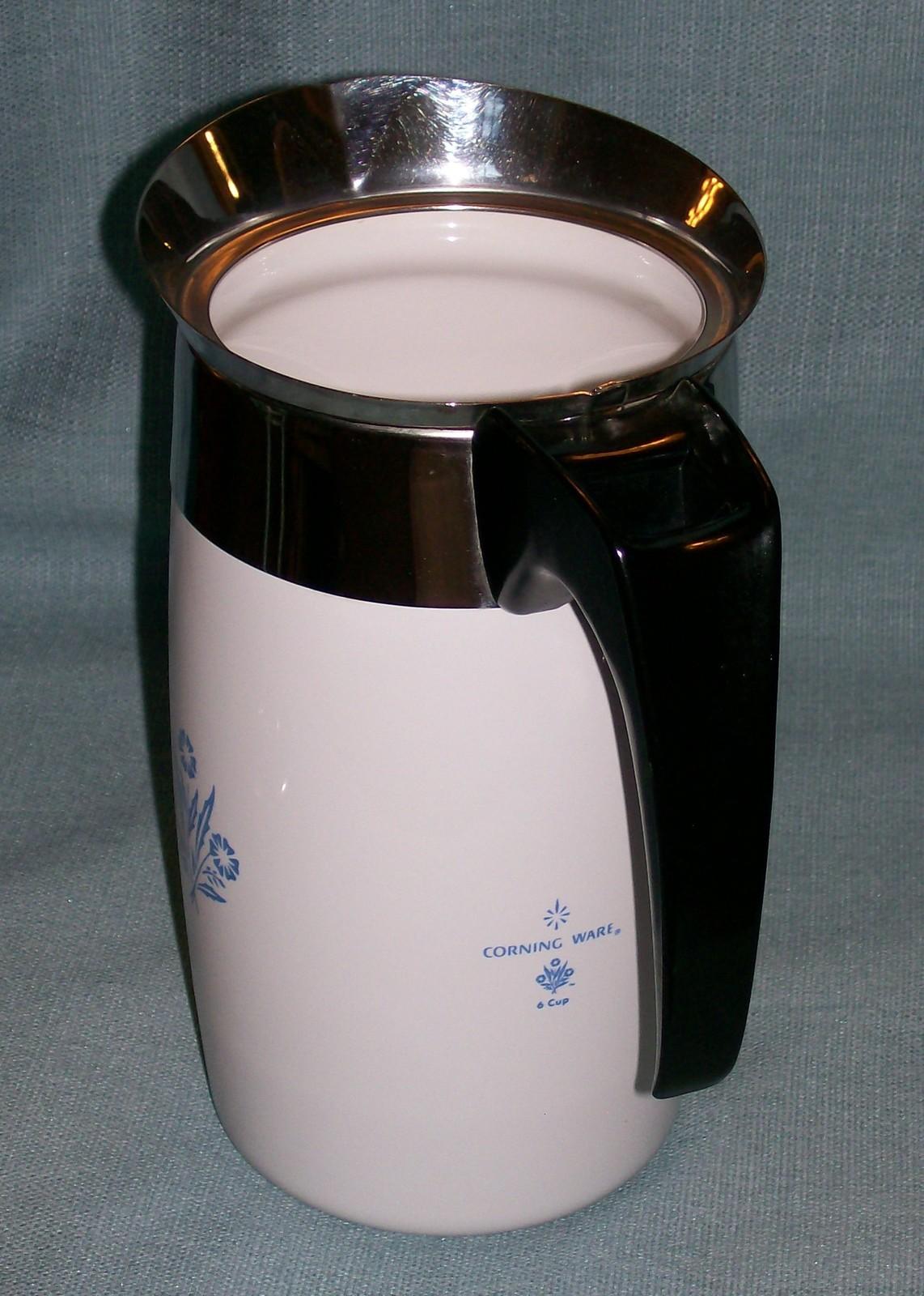 Corning Ware BLUE CORNFLOWER Electric Coffee Pot/Percolator 6 cup P-6-EP VGVC  image 4