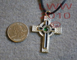 Protection Cross Celtic Amulet Necklace Pendant Pagan - $7.85