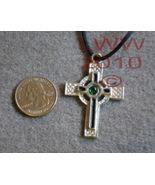 Protection Cross Celtic Amulet Necklace Pendant Pagan - $7.85