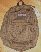 JanSport Superbreak Backpack ~ Guerilla Grn / Grafitti ~ NWT - $32.00