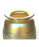 Redington Art Nouveau Iridescent Glass Gold Threaded Vase - $115.00