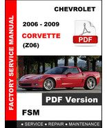 2006 - 2009 CHEVROLET CORVETTE C6 Z06 FACTORY SERVICE REPAIR WORKSHOP FS... - $14.95